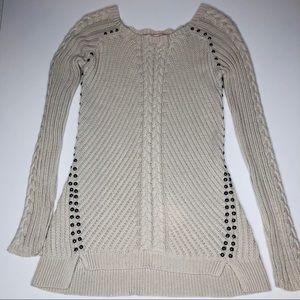 Philosophy Cotton Light Knit Sweater Xs greige